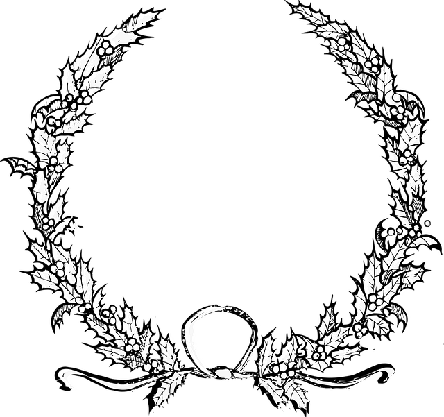 Black And White Car Wallpaper Holly Christmas Wreath 183 Free Vector Graphic On Pixabay