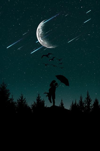 Little Girl Desktop Wallpaper Night Love Sky 183 Free Photo On Pixabay