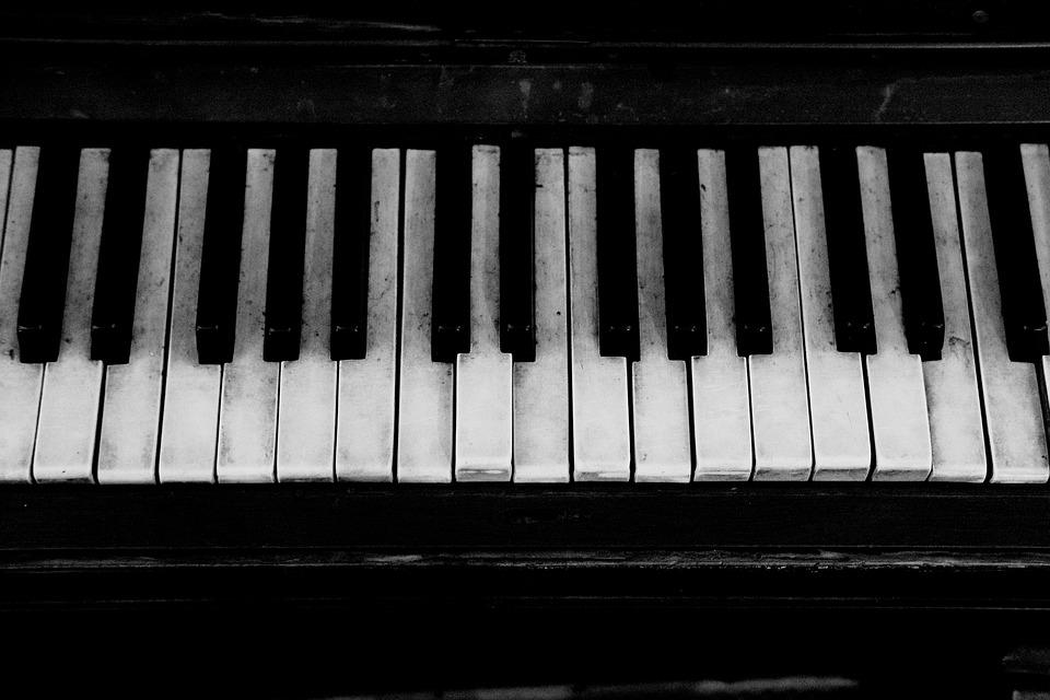Black White Wallpaper Girl Piano Old Grand 183 Free Photo On Pixabay