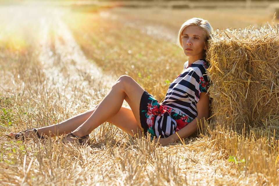Free Country Girl Wallpaper Free Downloads Free Photo Girl Haystack Field Hay Nature Free