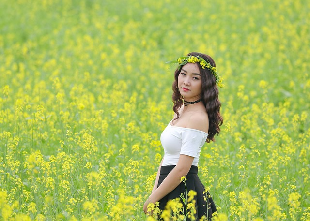 Beautiful Face Girl Wallpaper Flower Reform Yellow Girl 183 Free Photo On Pixabay