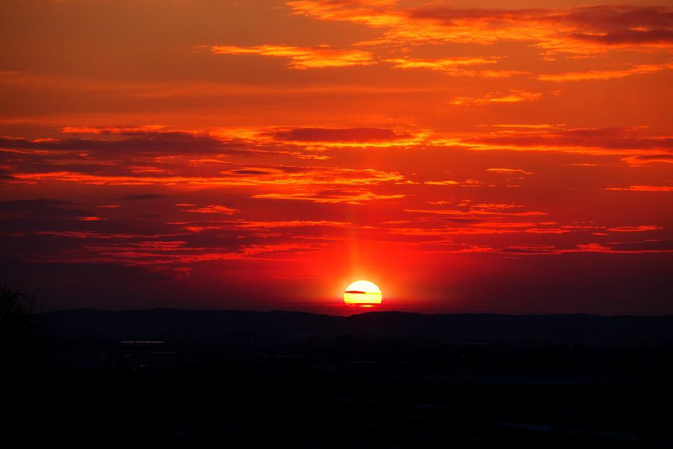 Mountain Wallpaper Iphone 6 Sunset Sun Afterglow 183 Free Photo On Pixabay