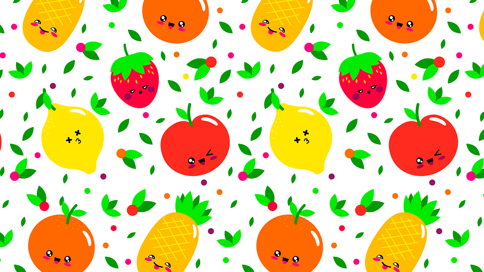 Cute Pattern Background Wallpaper Pattern Fruit Fruits 183 Free Vector Graphic On Pixabay