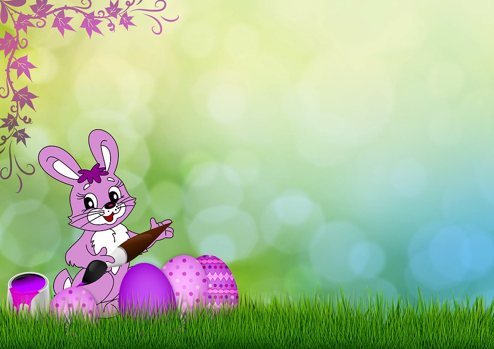 Cute Bunny Wallpaper Cartoon Easter Egg Grass 183 Free Image On Pixabay