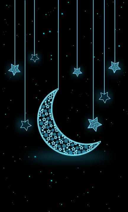 Zedge Iphone 6 Wallpaper Moon Star Neon 183 Free Image On Pixabay