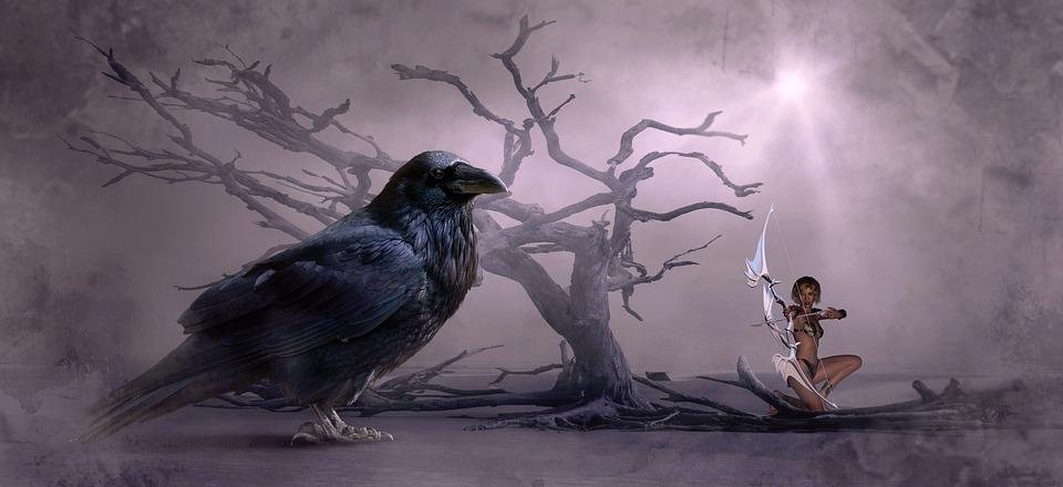 Beautiful Girl Wallpaper Pictures Download Fantasy Crow Tree 183 Free Photo On Pixabay