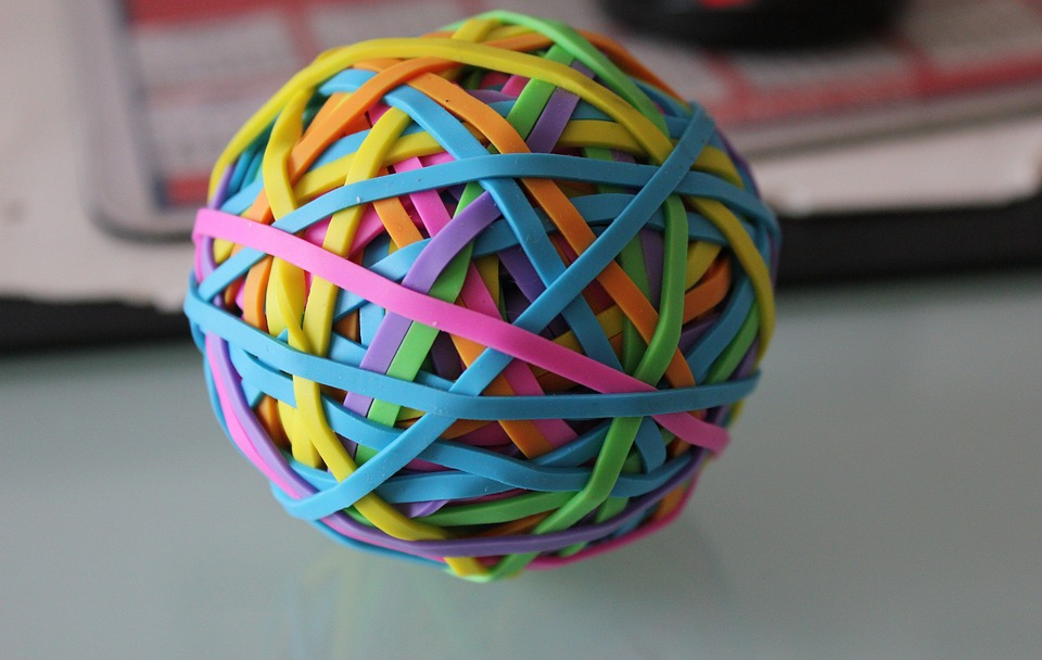 Rubber Bands Elastic Ball Office · Free photo on Pixabay - ball office supplies