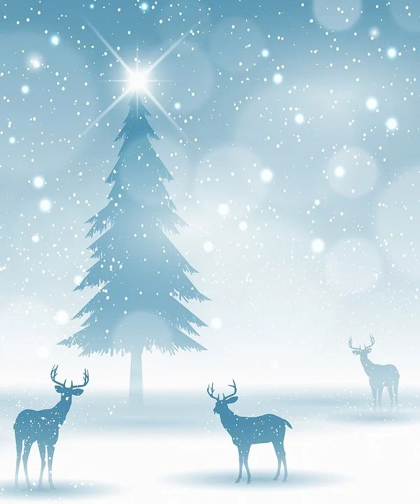 Deer In Snow Christmas Background - Free image on Pixabay