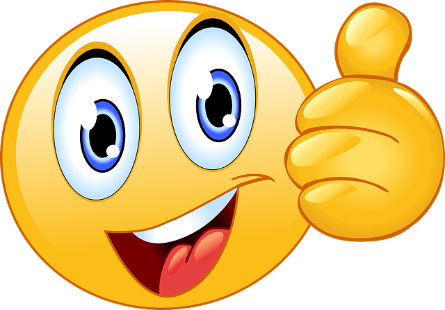 Lykkelig Blog Thumbs Up Smiley Face Emoji - Free Vector Graphic On Pixabay