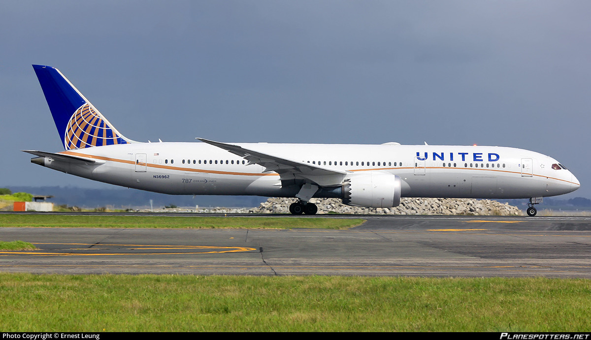 N36962 United Airlines Boeing 787 9 Dreamliner Photo By