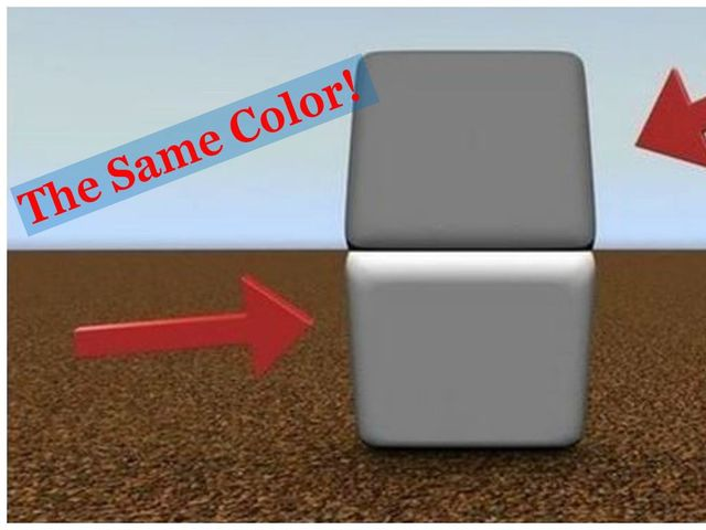 Are These Two Boxes Actually The Same Color? Can You See It? Playbuzz
