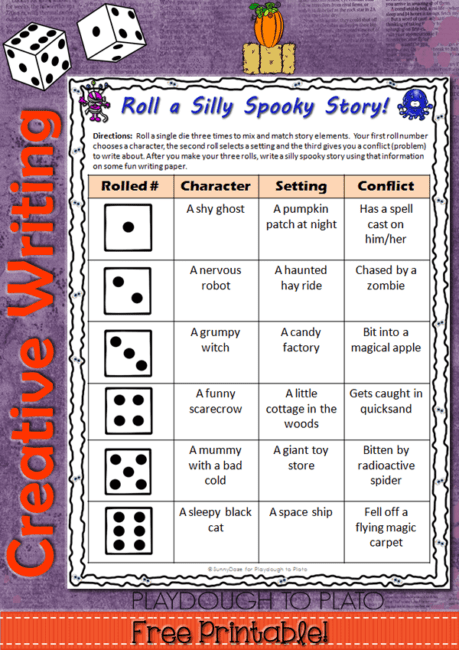 roll a silly spooky story