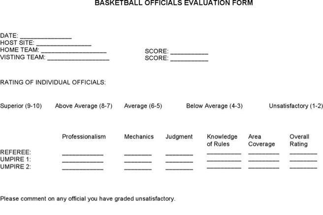 Basketball Evaluation Form  TemplatexampleUnicloudPl