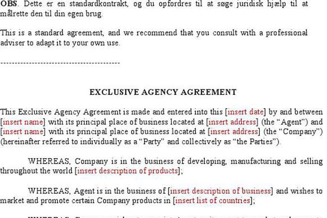 Agent Agreement Template Free Resume Characterworld Co