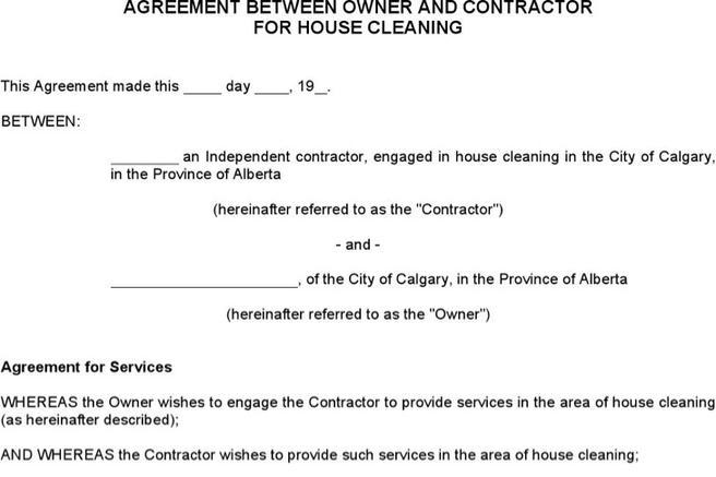 Cleaning Services Contract Template Gallery Of Doc Cleaning Service - sample cleaning contract template
