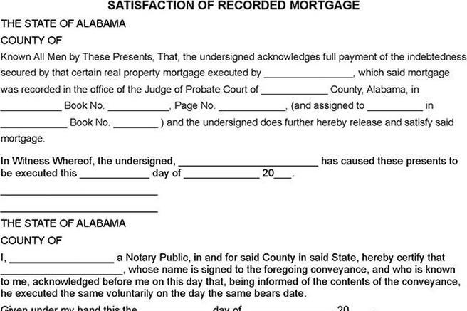 Release Of Mortgage Form New Jersey Satisfaction Of Mortgage Form - satisfaction of mortgage form