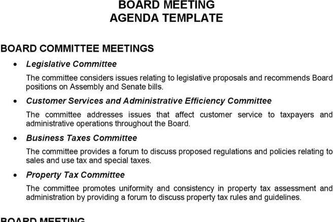 Board Meeting Agenda Template Board Agenda Templates Are Added Here