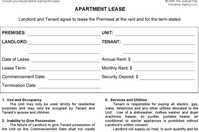 Lease Templates Download Free  Premium Templates, Forms  Samples - Apartment Lease Templates