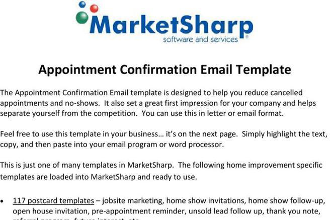 Confirmation Email Templates Download Free  Premium Templates - confirmation email template