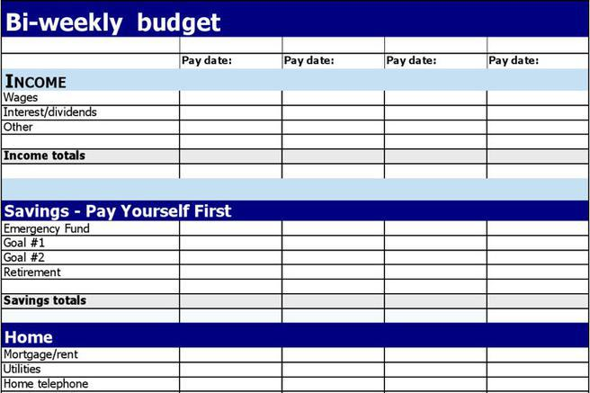 biweekly budget template - Intoanysearch - weekly budget template