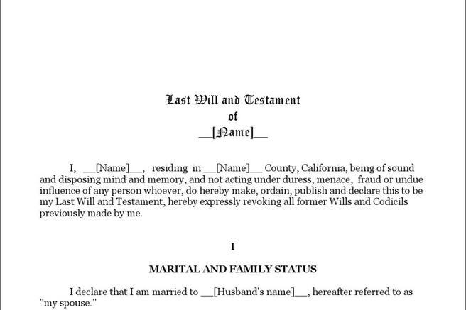 Last Will and Testament Form Download Free \ Premium Templates - last will and testament form