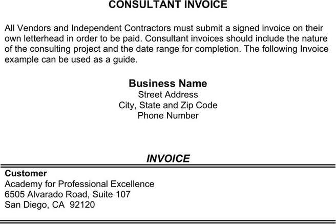 Sample Consulting Invoice Business Solutions Consultant Template - consulting invoice sample