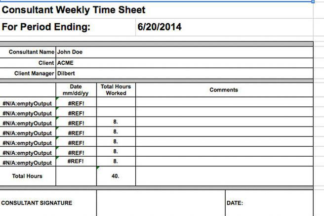 Excel Timesheet Template Awesome Consultant Timesheet Template - sample payroll timesheet