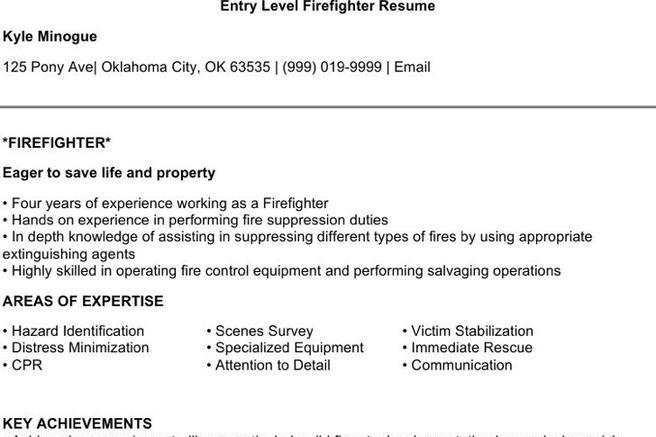 Firefighter Resume Templates Download Free  Premium Templates