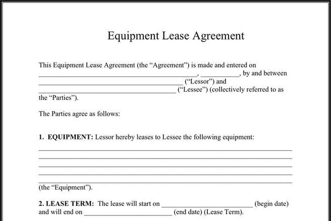Equipment Lease Agreement Download Free  Premium Templates, Forms - Equipment Rental Agreement
