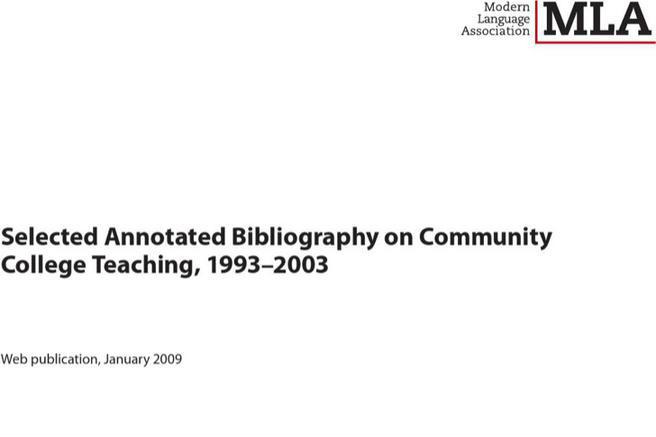 Mla annotated bibliography template 2009 - annotated bibliography template
