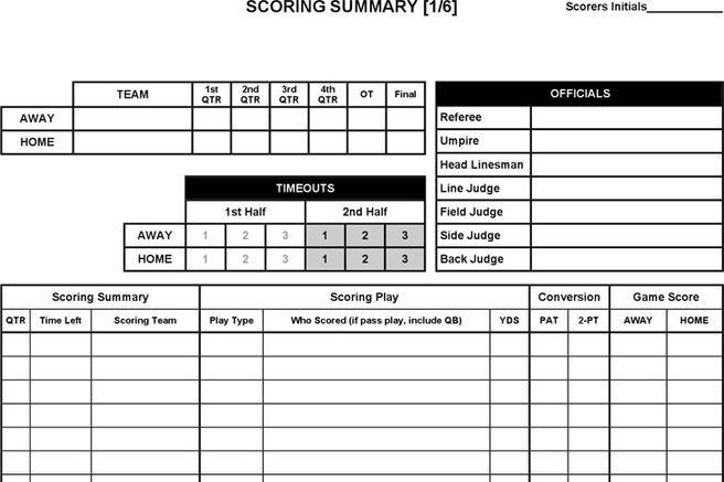 Football Score Sheet Download Free  Premium Templates, Forms - football score sheet template