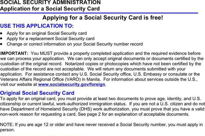 Social Security Form Download Free  Premium Templates, Forms