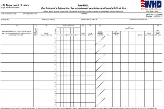 Payroll Templates Download Free \ Premium Templates, Forms - certified payroll form