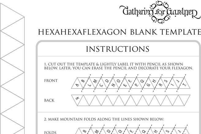 Hexaflexagon Template Flexagon Craft Project Patterns Origami And - hexaflexagon template