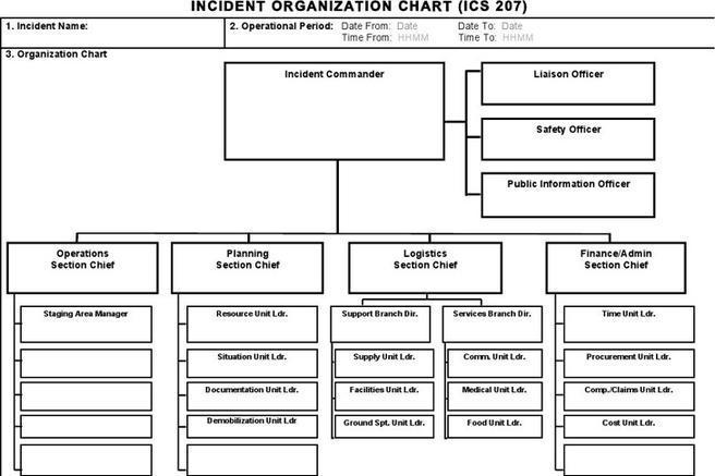 Ics Organizational Chart Blank Organizational Chart Template Best