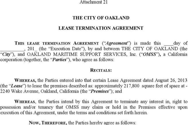 lease termination agreement sample