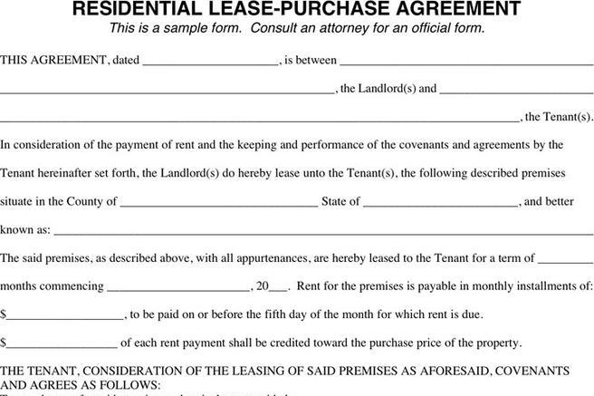 Lease Purchase Agreement Download Free  Premium Templates, Forms - Lease Purchase Agreement