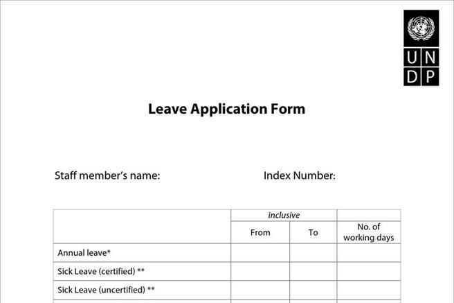 Download Annual Leave Application Form for Free - oukasinfo