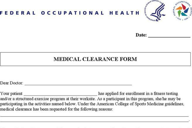 Sample Medical Clearance Form Modern Sample Resume Clearance Form