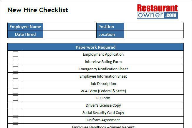 New Hire Checklist Template Download Free  Premium Templates