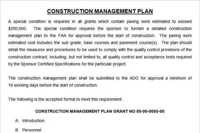 Construction Cost Management Plan Template Images - template design ...