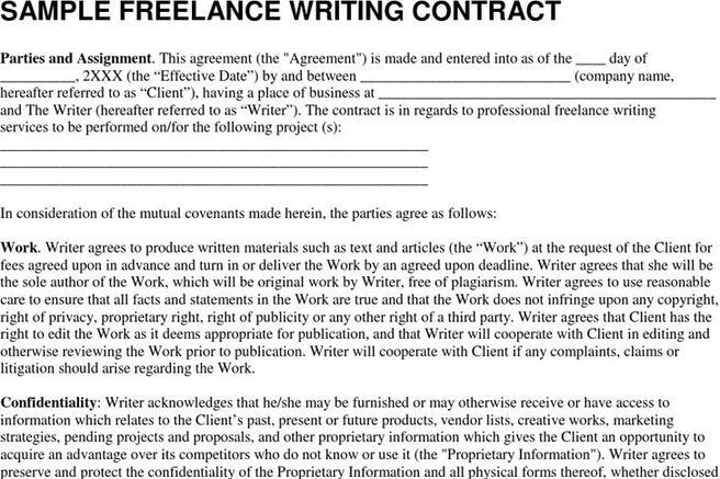 Freelance Contract Agreement Template - Costumepartyrun - sample freelance contract template