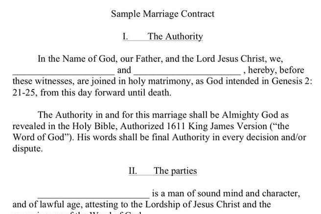 Marriage Contract Sample Download Free  Premium Templates, Forms - marriage contract