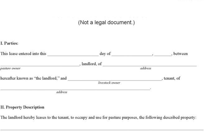 Pasture Lease Agreement Download Free  Premium Templates, Forms - Sample Pasture Lease Agreement Template