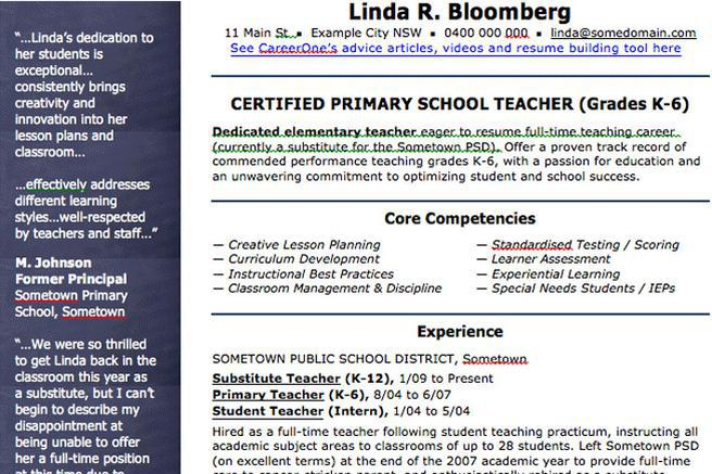 2+ Teaching CV Template Free Download