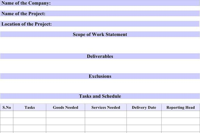 Scope Of Work Template Lined How To Write Cv For Receptionist - scope of work template
