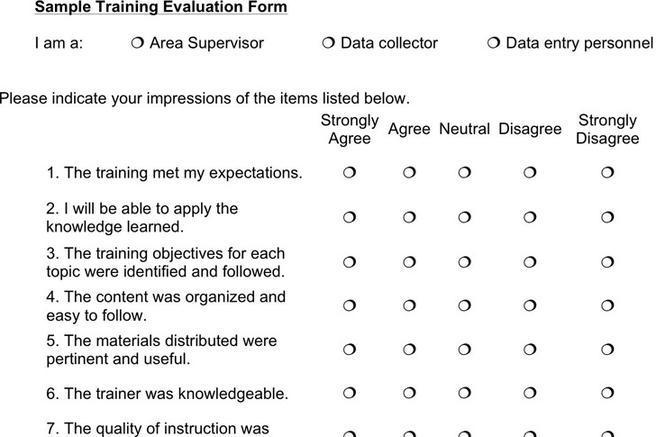 Trainer Evaluation Form - Resume Template Sample - evaluation forms for trainers