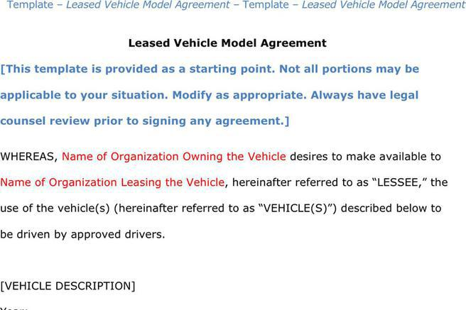 Sample Vehicle Lease Agreement Template Lease Agreement Between - sample vehicle lease agreement
