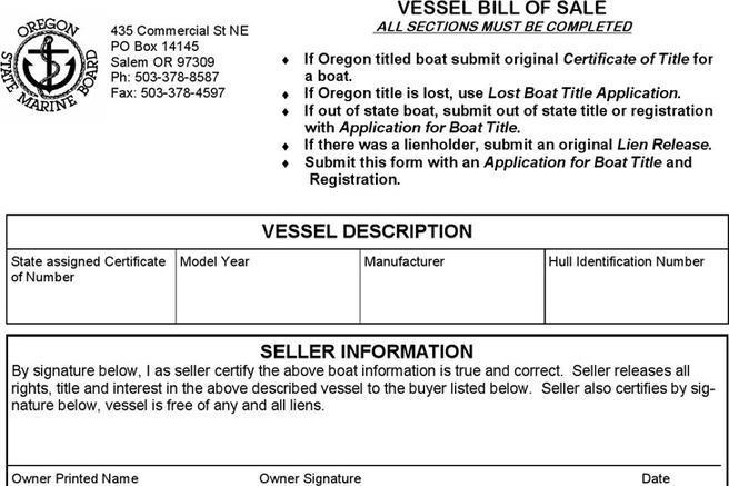 boat bill of sale nc - Alannoscrapleftbehind
