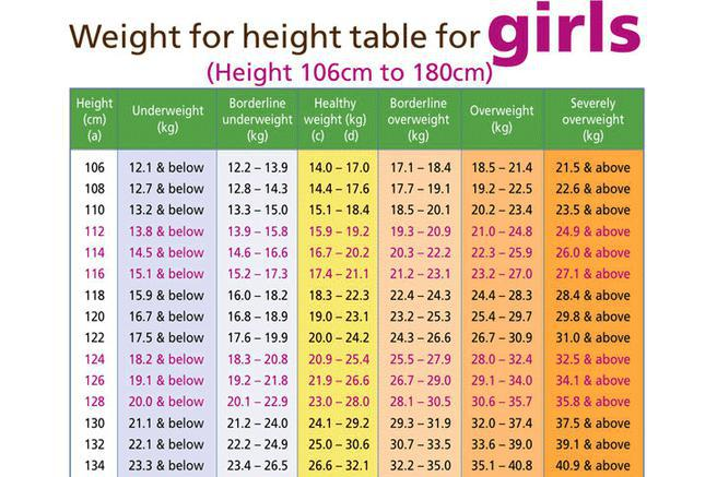 Weight Chart Download Free  Premium Templates, Forms  Samples